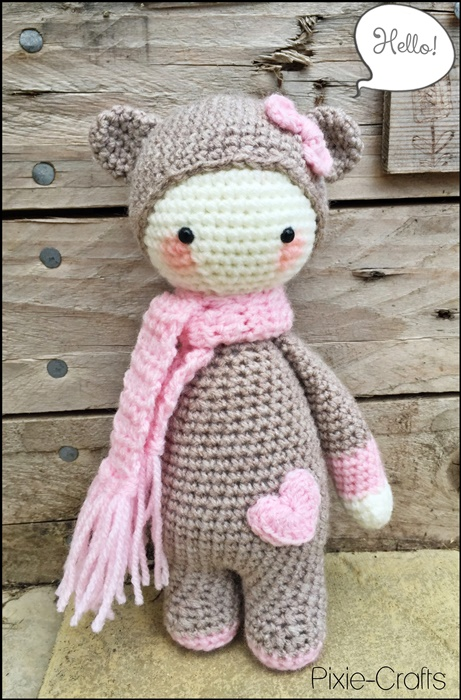 Handmade Crochet Amigurumi Mini Bina Biscuit Bear Doll ...