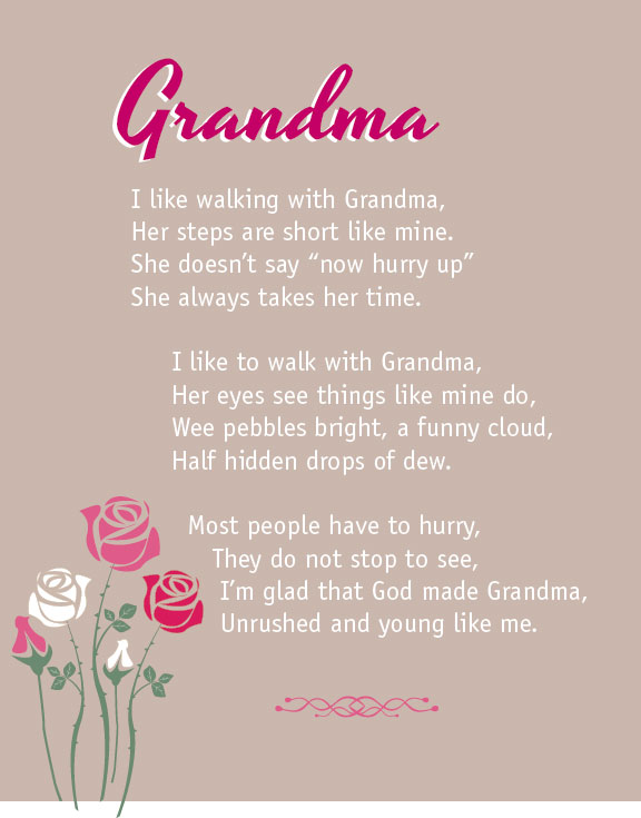 Great grandmother birthday poems like walking with grandma beautiful